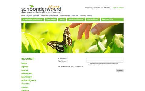 Screenshot of Login Page schoonderwoerd.nl - Schoonderwoerd | Inloggen - captured Sept. 30, 2014