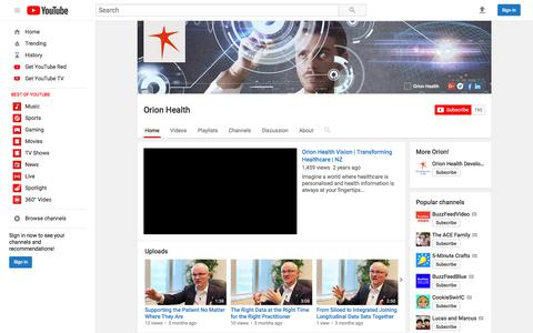 Orion Health  - YouTube