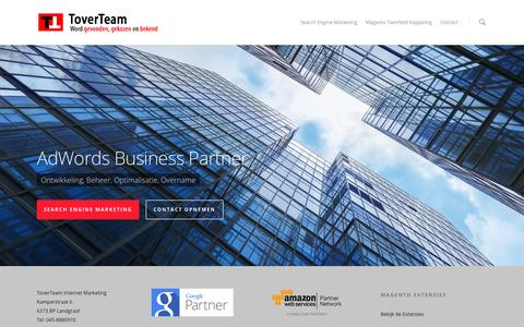 Screenshot of Home Page toverteam.nl - ToverTeam Internet Marketing helpt bedrijven groeien Toverteam – Helpt bedrijven groeien - captured Oct. 7, 2014
