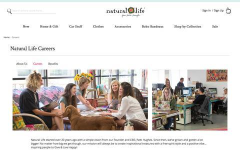 Screenshot of Jobs Page naturallife.com - Careers Natural Life - captured Sept. 23, 2018