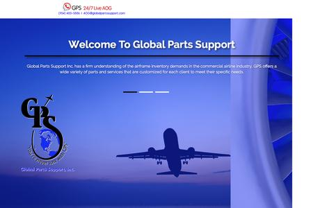 Screenshot of Home Page globalpartssupport.com - Home - captured Nov. 8, 2016