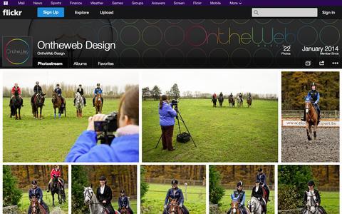 Screenshot of Flickr Page flickr.com - Flickr: OntheWeb Design's Photostream - captured Oct. 26, 2014