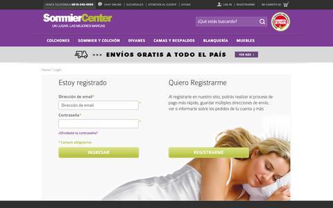 Screenshot of Login Page sommiercenter.com - Identificador de cliente - Sommier Center - captured Nov. 7, 2018
