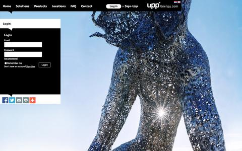 Screenshot of Login Page uppenergy.com - Upp Energy - Making energy visible and social - captured Oct. 9, 2014