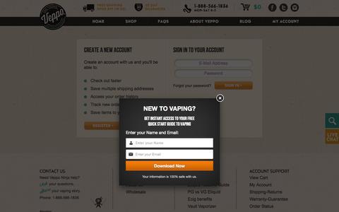 Screenshot of Login Page veppocig.com - VEPPO, Inc Store - Sign in - captured Oct. 26, 2014