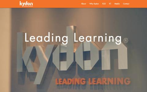 Screenshot of Home Page kydon.com.sg - Kydon – We Champion Techonology In Learning | Singapore - captured Oct. 16, 2018