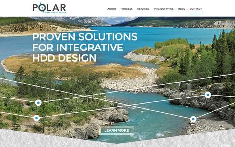 Screenshot of Contact Page polardesign.ca - Polar Directional Design - captured Oct. 2, 2014