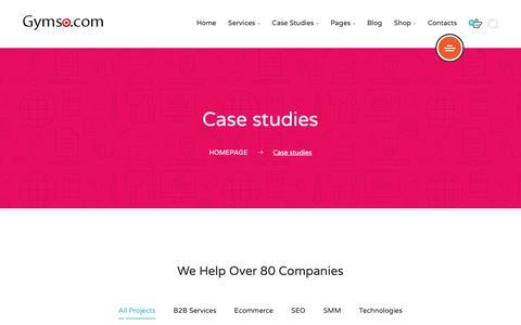 Screenshot of Case Studies Page gymso.com - Case studies – SEO Mumbai   SEO Company Mumbai   SEO Services Mumbai India – Gymso.com - captured Sept. 30, 2018