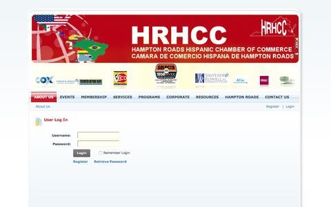 Screenshot of Login Page hrhcc.org - User Log In - captured Oct. 21, 2016