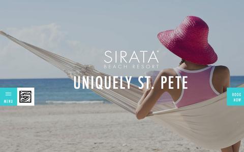 Screenshot of Home Page sirata.com - Family Friendly St. Pete Beach Resort | Sirata Beach Resort - captured Nov. 13, 2017