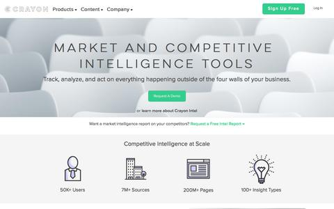 Crayon | Market & Competitive Intelligence Tools