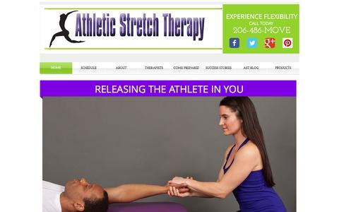 Screenshot of Home Page athleticstretchtherapy.com - Athletic Stretch Therapy - captured May 30, 2017