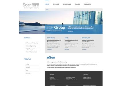 Screenshot of Home Page scanfore.com - Scanfore - balancing the industry - captured Oct. 4, 2014