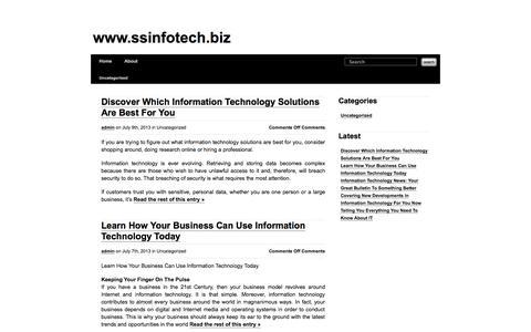 Screenshot of Home Page ssinfotech.biz - www.ssinfotech.biz - captured Oct. 3, 2014