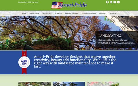 Screenshot of Home Page ameriprideinc.com - AmeriPride Lawn and Pest - Landscaping, Maintenance, Pest Control, Irrigation and Tree Services in Clearwater St Petersburg Tampa, Florida - captured Sept. 26, 2014