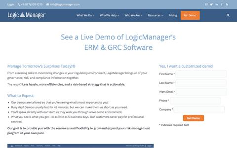 ERM & GRC Software Demo | See A LogicManager Demo