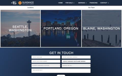Screenshot of Locations Page sundanceyachts.com - Contact Sundance Yachts & Marinas - captured Oct. 19, 2018