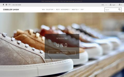 Screenshot of Home Page cobbler-union.com - Cobbler Union ( Small-Batch, Bespoke-Inspired Men's Shoes) - captured July 19, 2018