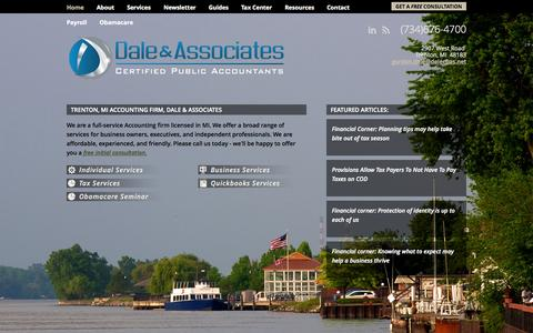 Screenshot of Home Page downrivercpas.com - Dale, Tolstyka & Company - Downriver, MI Accounting Firm | Home Page | - captured Oct. 5, 2014