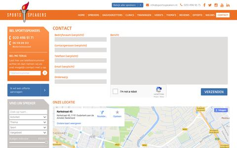 Screenshot of Contact Page sportsspeakers.nl - Contact | SportsSpeakers - captured June 15, 2017