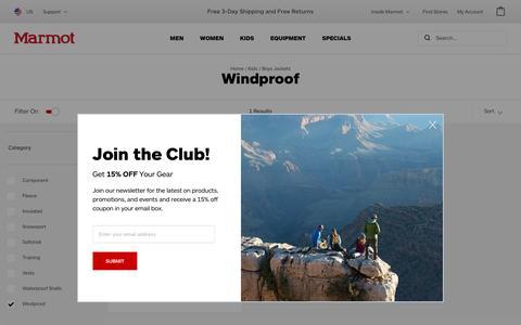 Windproof / Boys Jackets / Kids | Marmot.com