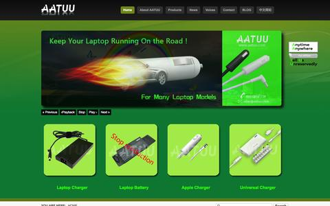 Screenshot of Home Page aatuu.com - AATUU-Laptop Charger,Universal Laptop Adapter,Universal Charger for laptop-phone-mp3,5 etc-AATUU-laptop charger_universal charger_universal laptop adapter - captured Oct. 6, 2014