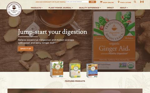 All-Natural Organic Herbal and Medicinal Teas - Traditional Medicinals