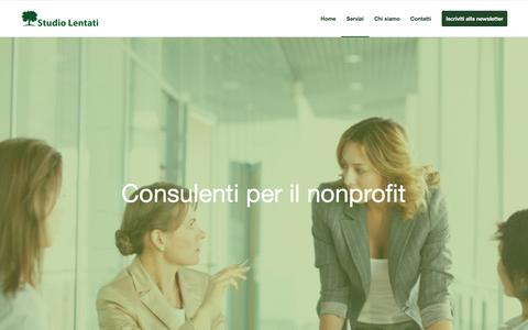 Screenshot of Services Page studiolentati.com - Studio Lentati |   Servizi - captured Feb. 26, 2016