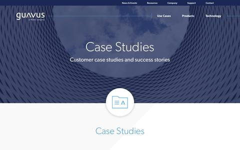 Screenshot of Case Studies Page guavus.com - Guavus Datasheets - captured Jan. 20, 2018