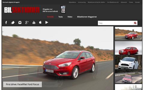 Screenshot of Home Page bilsektionen.dk - Online Bilmagasin med bilnyheder og biltests | Bilsektionen.dk - captured Sept. 23, 2014