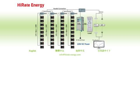 Screenshot of Home Page hirate-energy.com - Hirate Energy - captured Oct. 2, 2014