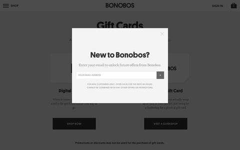 Gift Cards   Bonobos