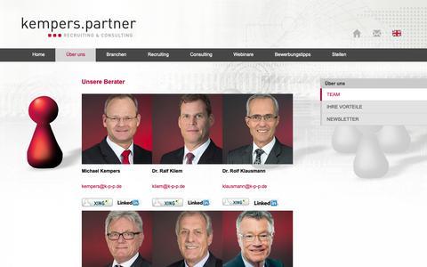 Screenshot of Team Page k-p-p.de - Team   - captured Oct. 16, 2018