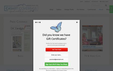 Screenshot of Press Page casartcoverings.com - Blogs, Magazines & Newspaper Press Coverage   Casart Coverings - captured Dec. 14, 2018