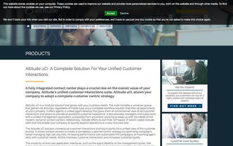 Screenshot of Products Page altitude.com - Altitude uCI: Unified Customer Interactions Solution - Altitude.com | EN Altitude - captured Jan. 17, 2016