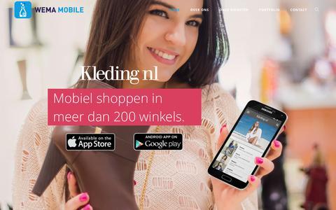 Screenshot of Home Page wemamobile.nl - WeMa Mobile | Native apps met de focus op kwaliteit, service en rendement - captured Dec. 4, 2015