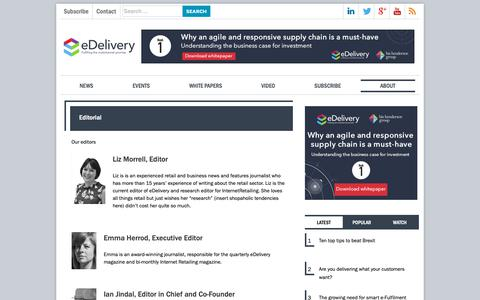 Screenshot of Team Page edelivery.net - Editorial - eDelivery.net - captured Oct. 23, 2018