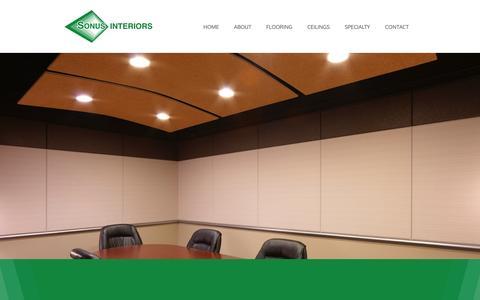 Screenshot of Contact Page sonusinteriors.com - Contact - Sonus Interiors - captured Jan. 24, 2016