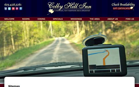Screenshot of Site Map Page colbyhillinn.com - Site Map for Colby Hill Inn - captured Dec. 10, 2015