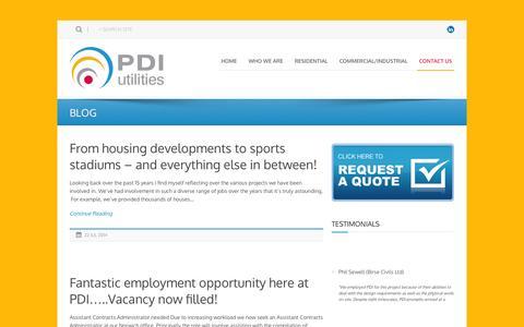 Screenshot of Blog pdiutilities.co.uk - PDI Utilities  BLOG » PDI Utilities - captured Sept. 26, 2014