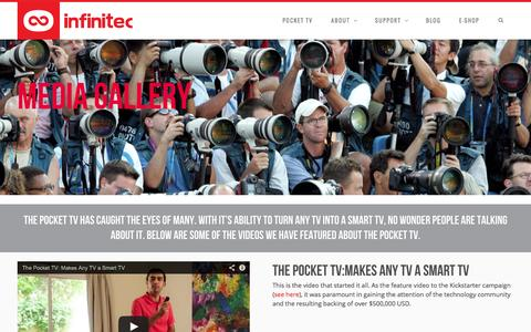 Screenshot of Press Page infinitec.com - Media - Infinitec - Home of the Pocket TV - captured Sept. 23, 2014