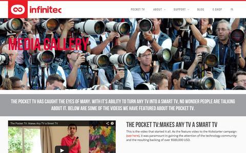 Screenshot of Press Page infinitec.com - Media - Infinitec - Home of the Pocket TV - captured Sept. 23, 2014