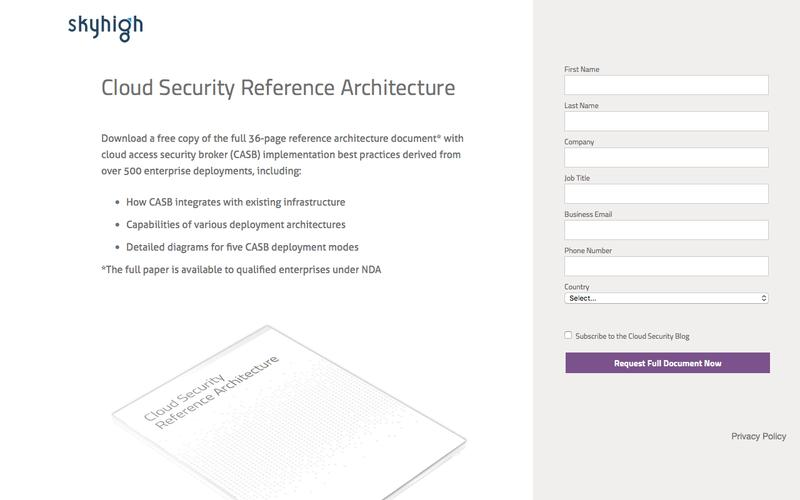 Skyhigh Cloud Security Reference Architecture