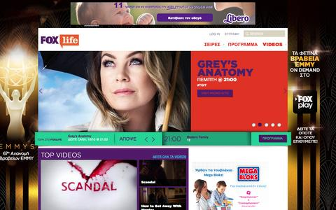 Screenshot of Home Page foxlifetv.gr - FOX Life |  : Foxlife | - captured Oct. 17, 2015
