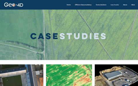 Screenshot of Case Studies Page geo-4d.com - Geo-4D // CASE STUDIES - captured July 17, 2018