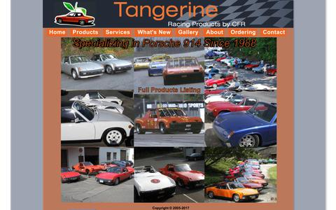 Screenshot of Home Page tangerineracing.com - Tangerine Racing Home - captured July 8, 2017