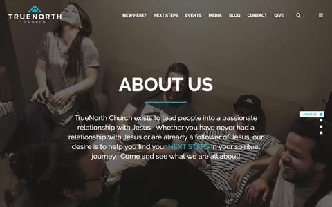 Screenshot of About Page truenorthchurch.com - About Us - TrueNorth Church - captured Oct. 20, 2018
