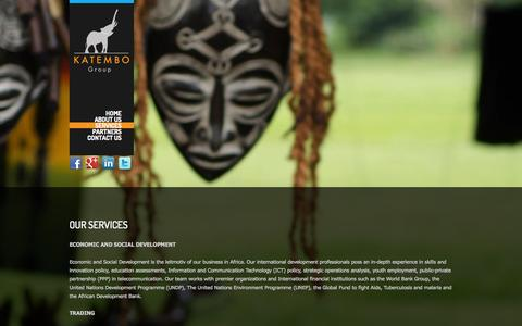 Screenshot of Services Page katembo.com - Our Services - Katembo Group - captured Oct. 6, 2014
