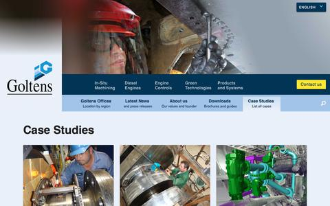 Screenshot of Case Studies Page goltens.com - Case Studies | Goltens In-Situ Machining and Diesel Engine Repair - captured Aug. 29, 2017