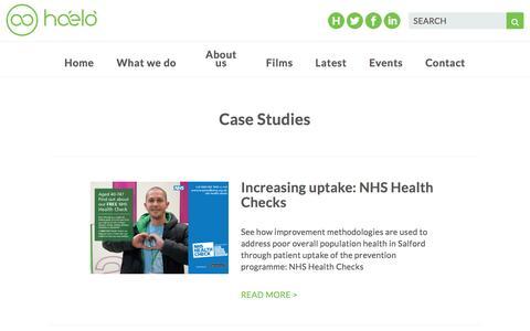 Screenshot of Case Studies Page haelo.org.uk - Case Studies - Haelo - captured July 10, 2016